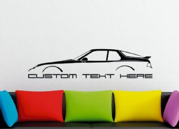 Large Custom car silhouette wall sticker - for Porsche 968 | classic